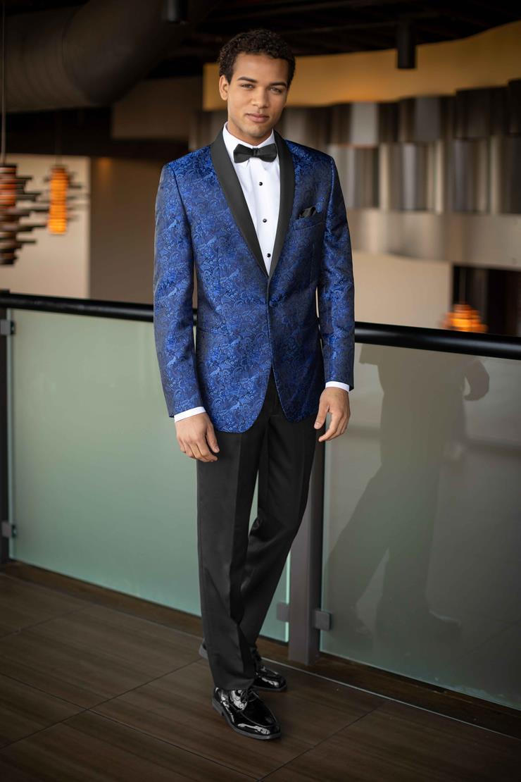 Jim's Formal Wear Style #COBALT BLUE PAISLEY ARIES - MARK OF DISTINCTION  Image