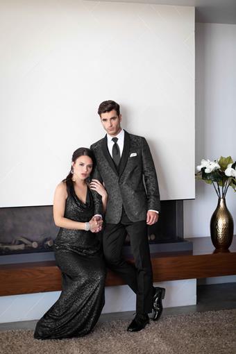 Jim's Formal Wear Style #GRANITE PAISLEY ARIES - MARK OF DISTINCTION