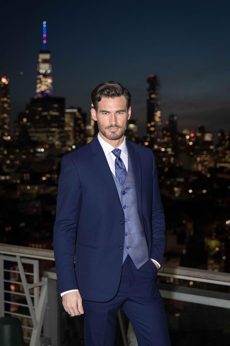 Jim's Formal Wear Style #ULTRA SLIM BLUE PERFORMANCE WEDDING SUIT - MICHAEL KORS  Image