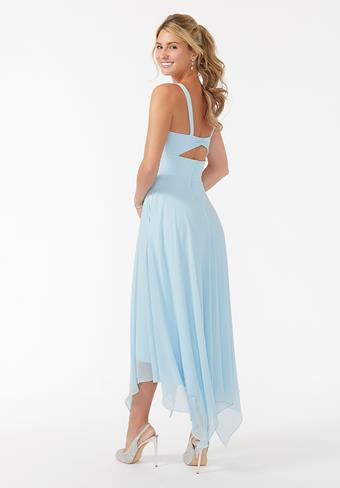 Morilee Midi Chiffon Keyhole Back Bridesmaid Dress