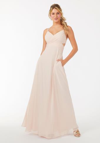 Morilee Wrapped Cutout Chiffon Bridesmaid Dress