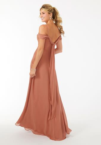 Morilee Draped Shoulder Chiffon Bridesmaid Dress