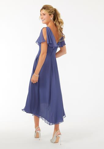 Morilee Midi Flutter Sleeve Chiffon Bridesmaid Dress