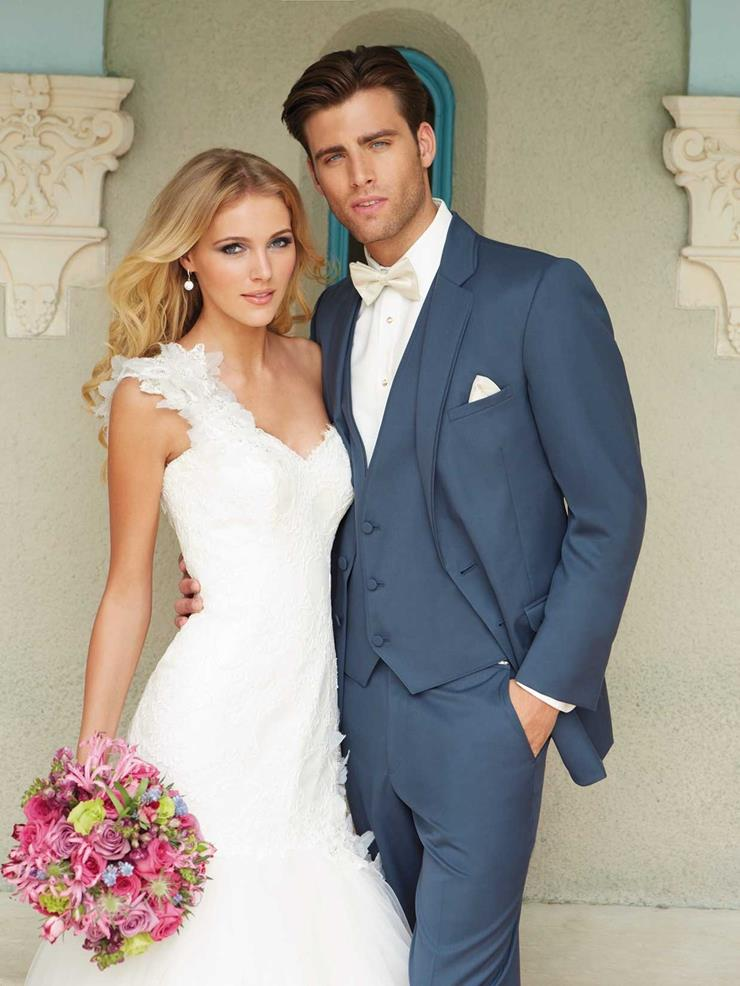 Allure Men 232M Slate Blue Wedding Suit Image