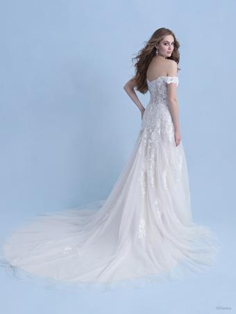 Disney Fairy Tale Weddings Style #D281 - Aurora Off the Shoulder A-line Wedding Dress with Sequin Floral Lace