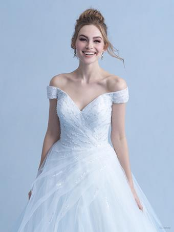 Disney Fairy Tale Weddings Style #D283 - Cinderella Off the Shoulder Ball Gown Wedding Dress with Beaded Bodice, Sequins and Tulle Skirt