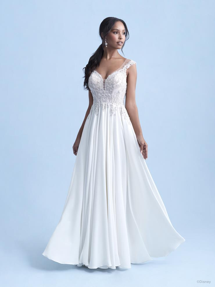 Disney Fairy Tale Weddings Style #D284 Jasmine - Cap Shoulder A-line Wedding Dress with Beaded Bodice and Pockets  Image