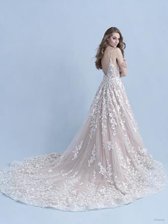 Disney Fairy Tale Weddings Style #D297 Snow White - Thin Strap A-line Wedding Dress with Floral Motifs and Sparkling Tulle