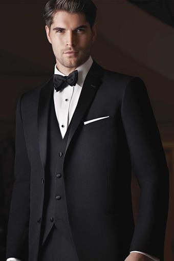 Ike Behar 230M Black Waverly Tuxedo