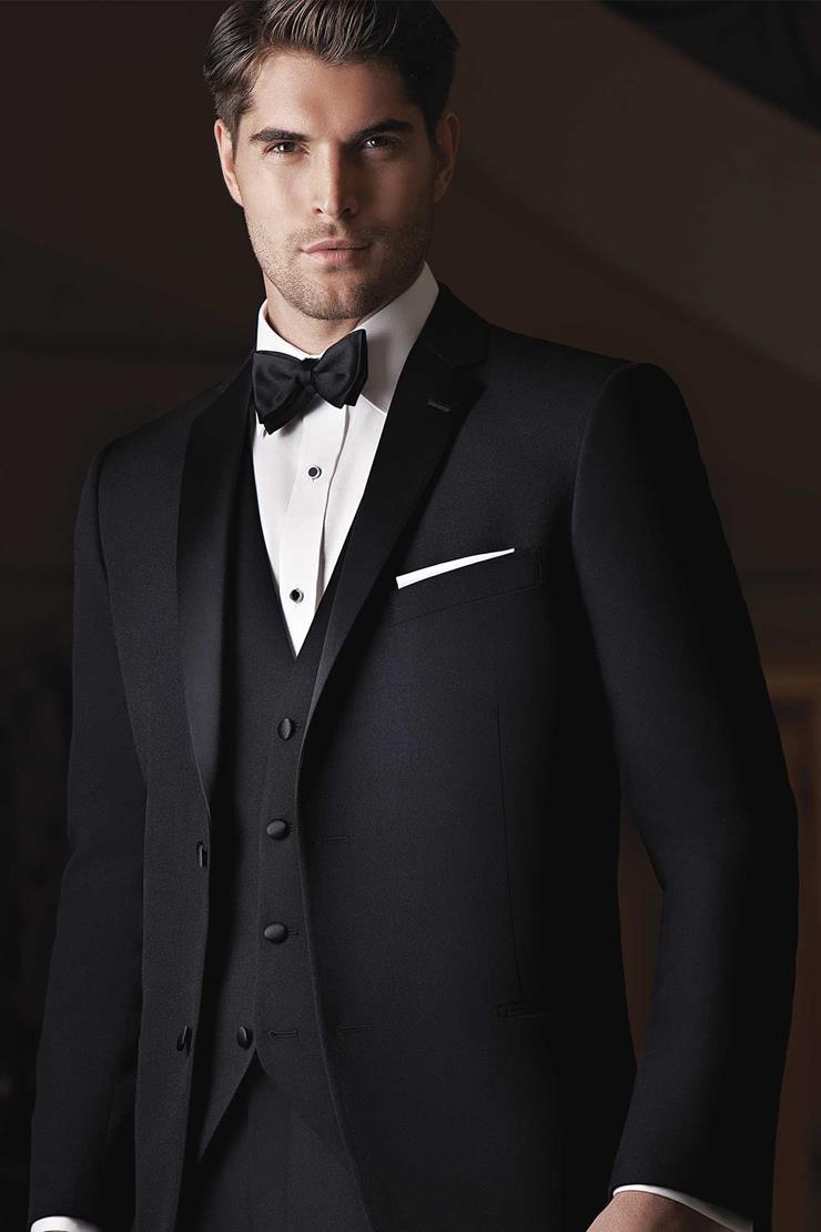 Ike Behar 230M Black Waverly Tuxedo Image