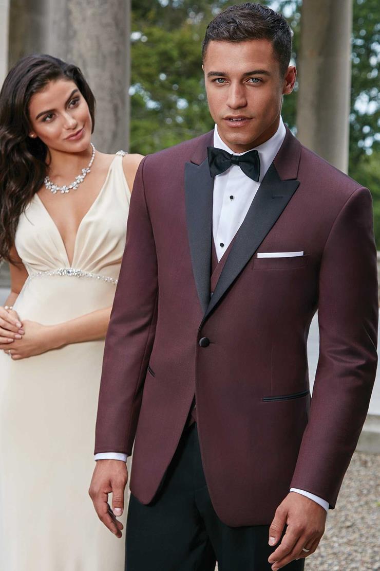 Ike Behar 239M Burgundy Marbella Tuxedo Image