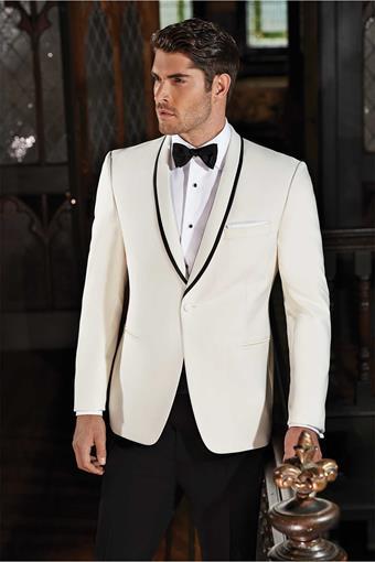 Ike Behar 240M Ivory Charles Tuxedo