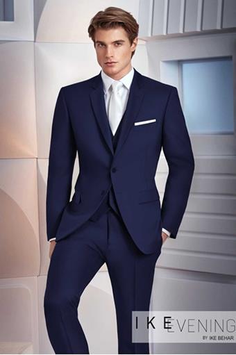 Ike Behar 250M Navy Colin Suit