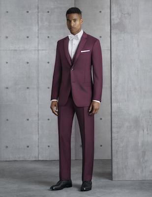 Ike Behar 281M Burgundy Liberty Suit