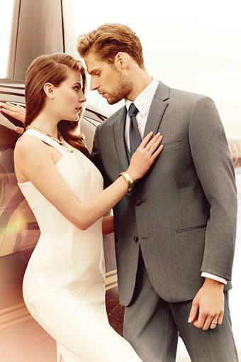 Michael Kors Grey Affection Tuxedo - Slim