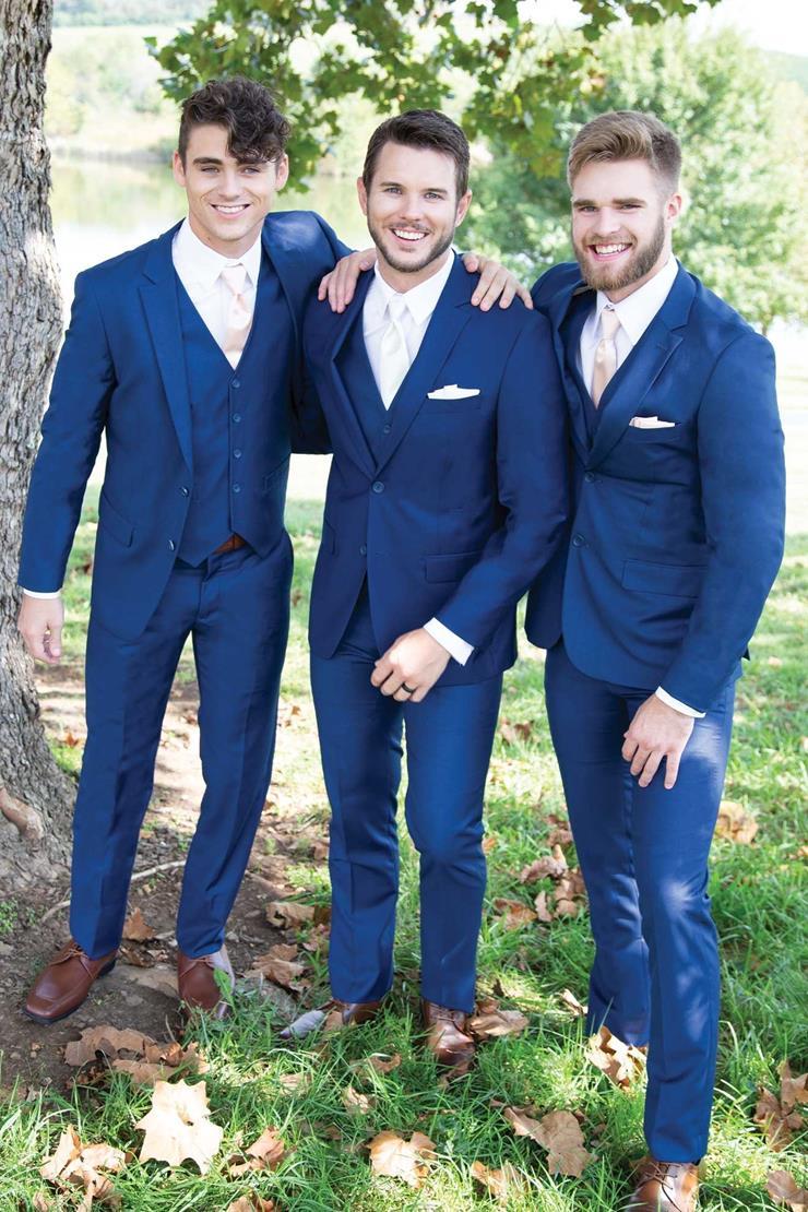 David Major Select 258M French Blue Suit Image