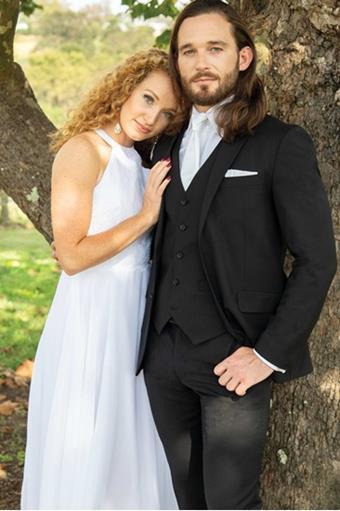David Major Select 259M Black Wedding Suit