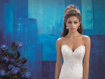 Allure Style #9420 Sweetheart Strapless Lace A-line Wedding Dress