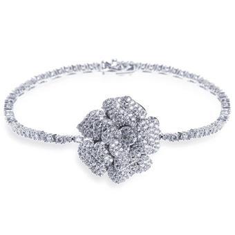 Ivory & Co #Blossom Silver Bracelet