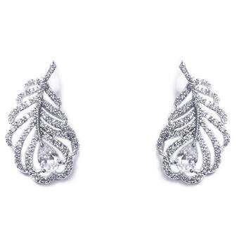 Ivory & Co #Long Island Silver Earrings