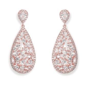 Ivory & Co #Moonstruck Rose Earrings