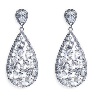 Ivory & Co #Pasadena Silver Earrings