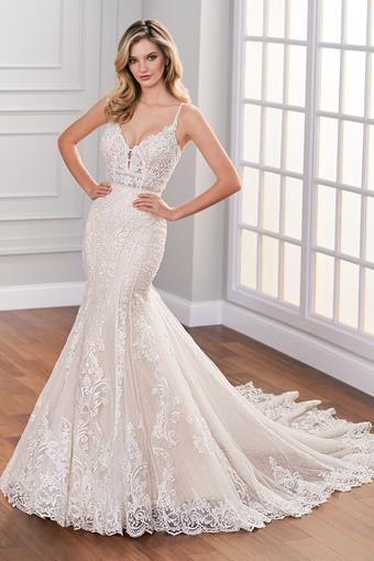 Lucerne Sultry sleeveless all-over lace mermaid wedding dress with sheer bodice