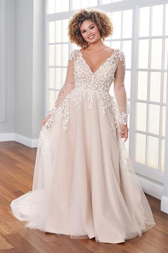 Blaye Whimsical bohemian A-line wedding dress with bishop sleeves