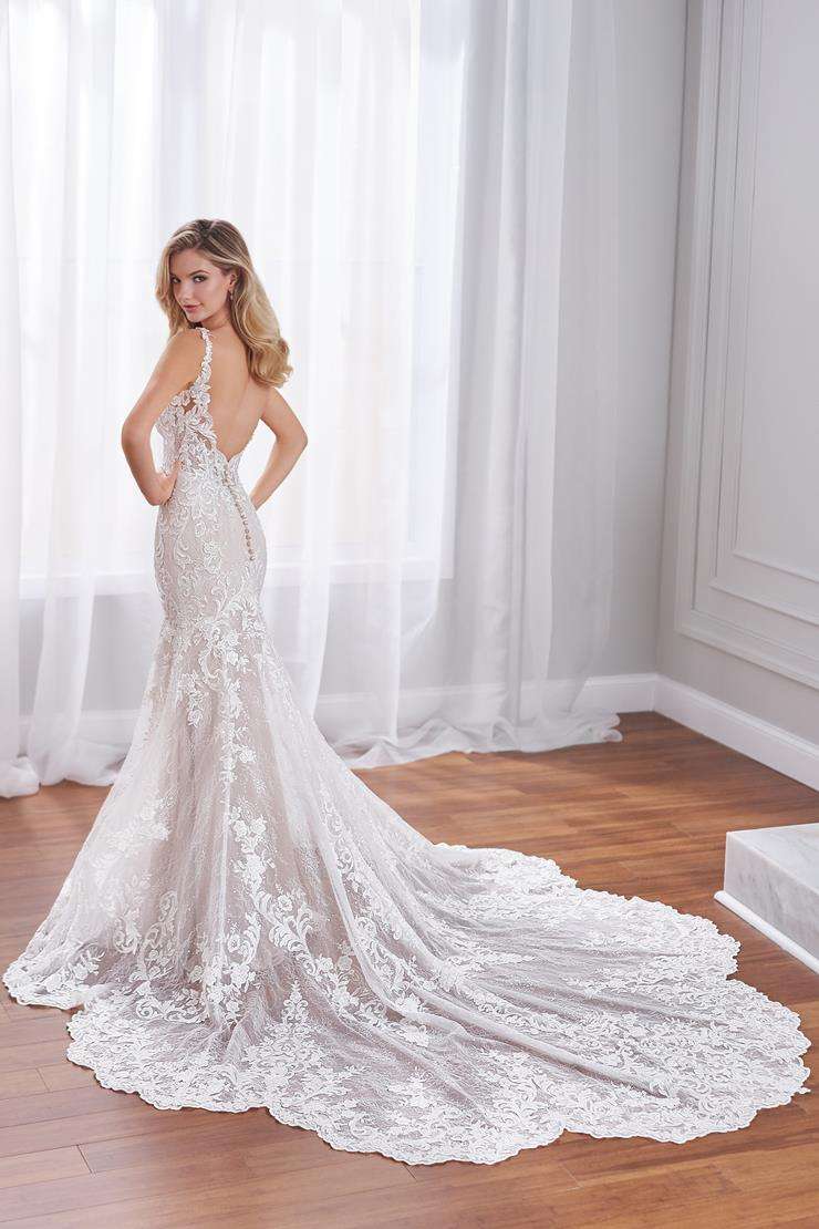 Claudine Sophisticated beaded lace mermaid bridal gown with cathedral train