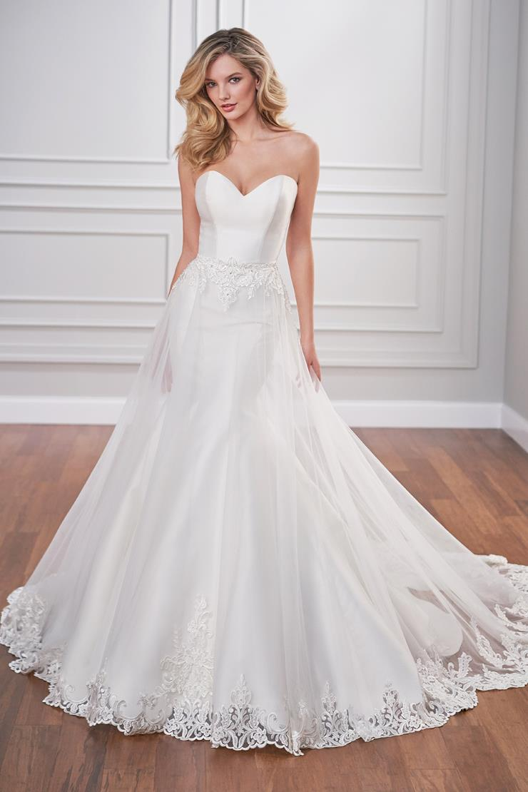 Harbine Sleek trumpet wedding dress with detachable tulle A-line skirt