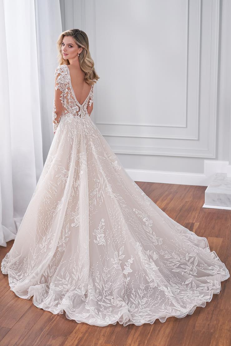 Palatine Long sleeve lace ball gown with decadent beading and low back