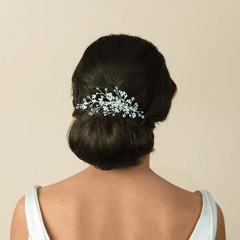Ivory And Co Chic Haircombs #Medium Silver Crystal