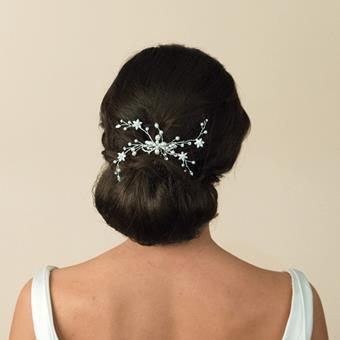 Ivory And Co Chic Haircombs #Silver Pearl Spray