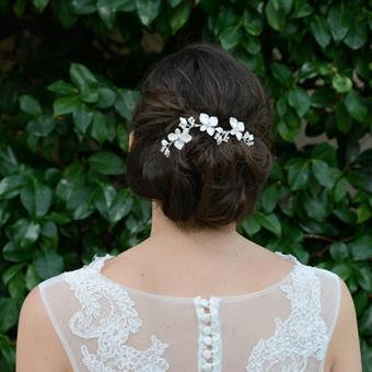 Ivory & Co Romantic Head Combs #Peony