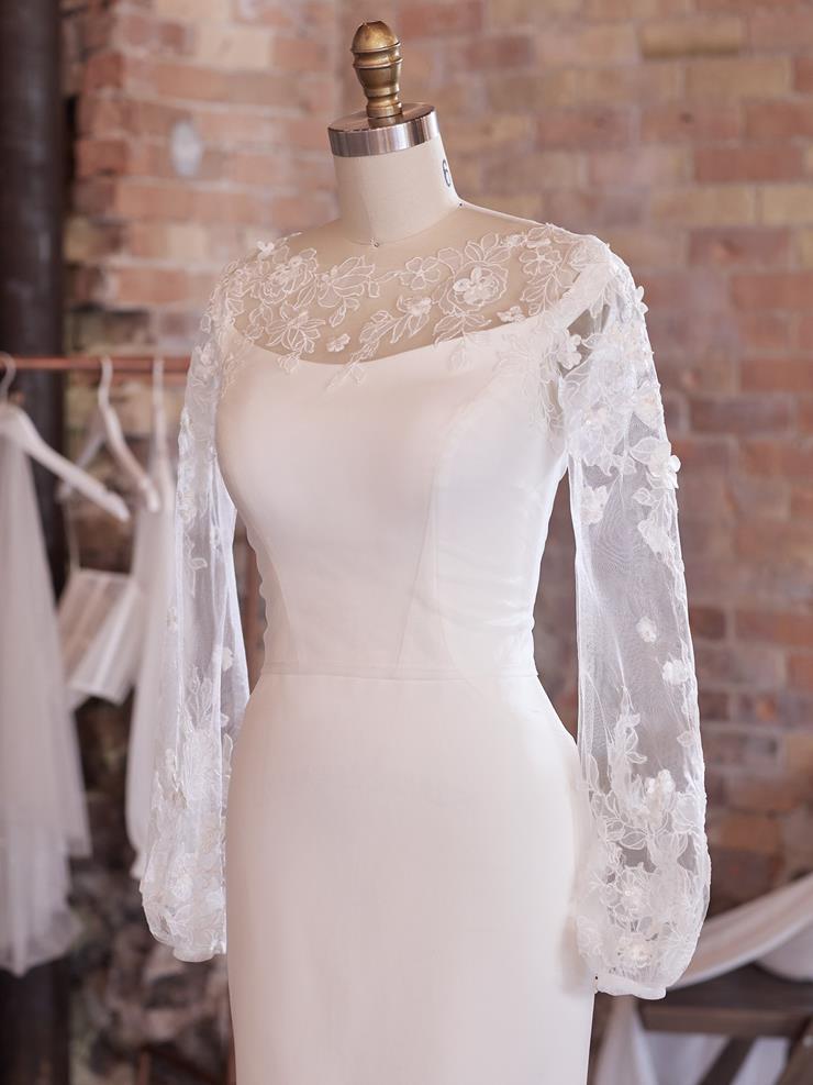 Maggie Sottero Akari Jacket - Long Bishop Sleeves  Image