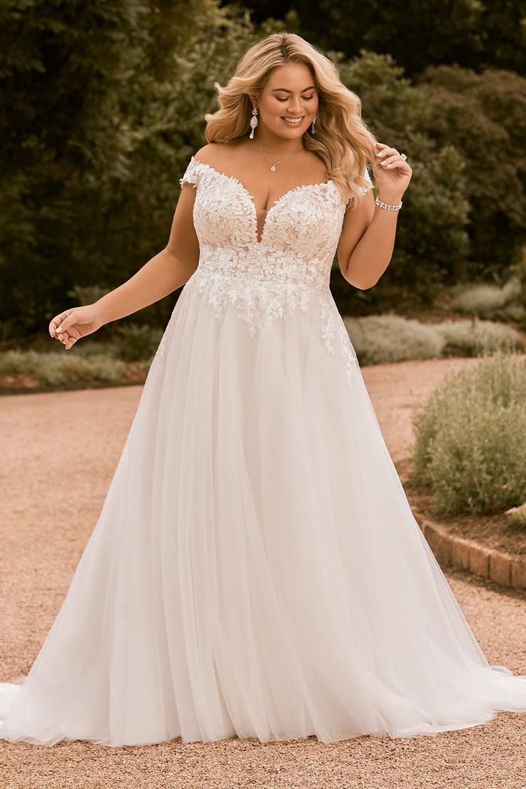 Off the Shoulder A-Line Beach Wedding Dress Bloom