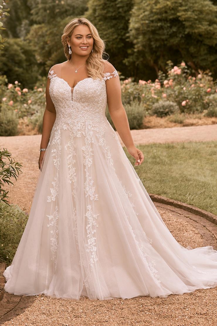Plus Size Wedding Dress with Corset Back Kensley