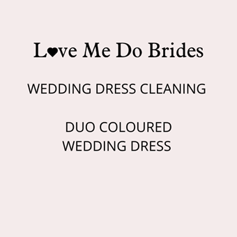 Love Me Do #Duo Coloured Wedding Dress