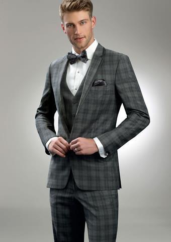 Allure Men Style Grey Plaid Sterling