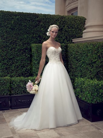 Casablanca Style #2191 Strapless Sweetheart Ballgown Wedding Dress with Beaded and Embroidered Bodice