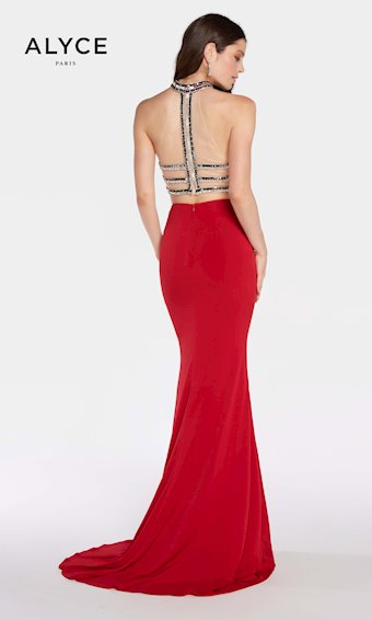 Alyce Paris Red Two Piece Dress