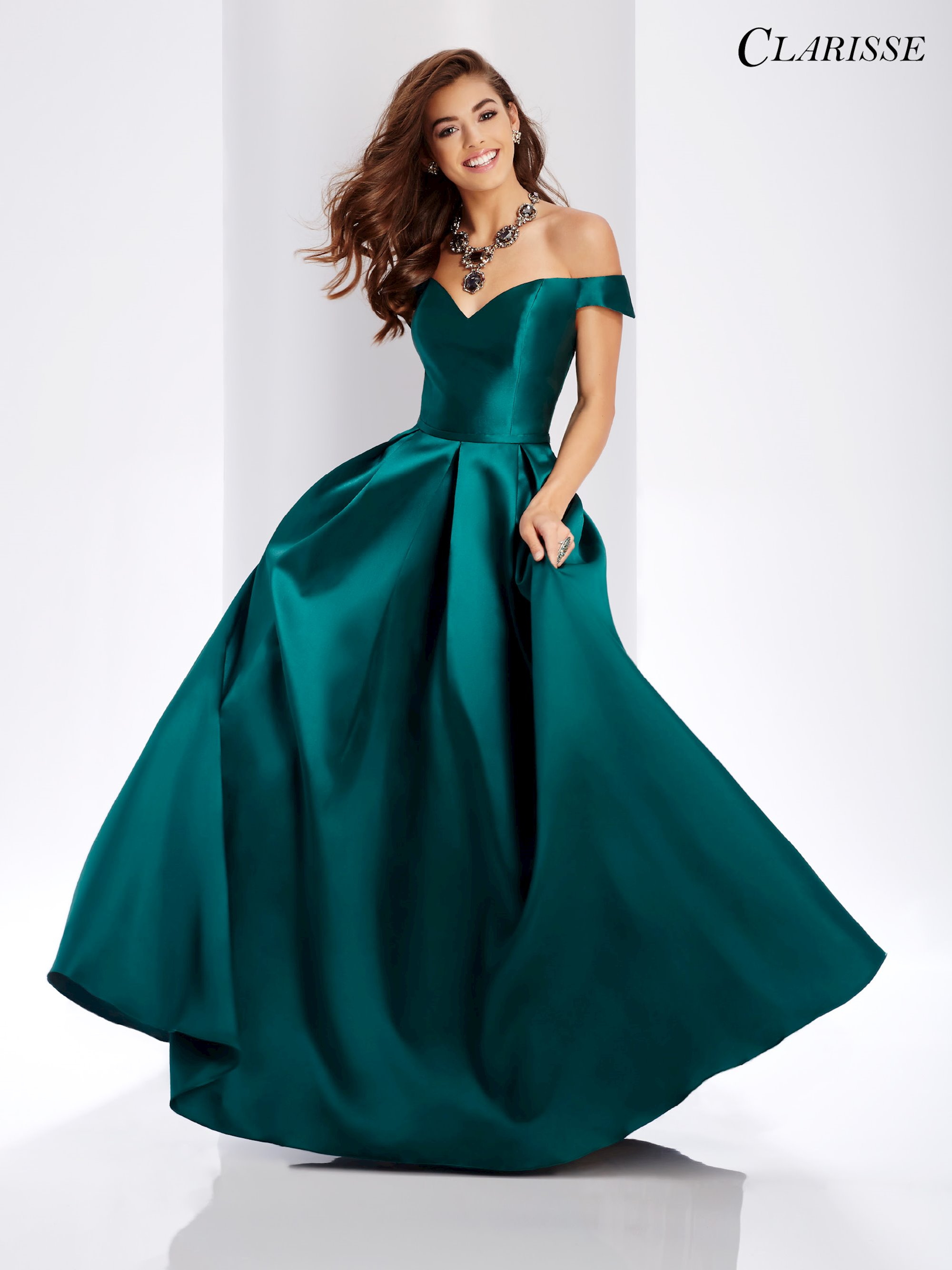 48ffb909e4a Clarisse Prom Dresses Off the Shoulder Classic Ball Gown. Double tap to zoom