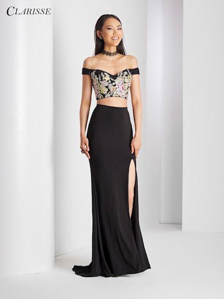 Black Two Piece Prom Dress