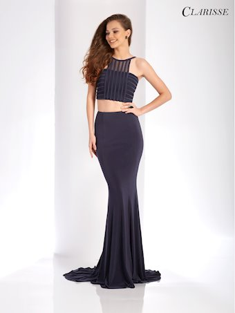 Clarisse Prom Dresses Charcoal Two Piece Formal Dress