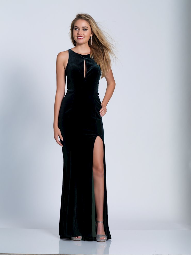 Dave & Johnny Prom Dresses Hunter Green Velvet Prom Gown