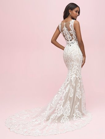 Allure Romance Style #3213 Modern Lace Sleeveless Lace Sheath Wedding Dress