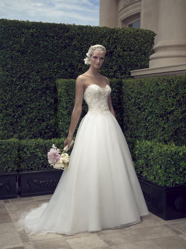 Casablanca Style #2191 Strapless Sweetheart Ballgown Wedding Dress with Beaded and Embroidered Bodice Image