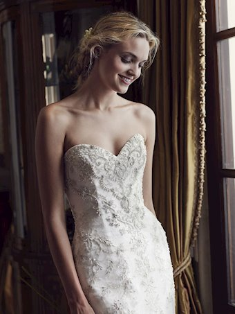 Casablanca Style #2231 Beautifully Detailed Beaded and Embroidered Strapless Wedding Dress