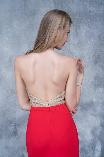 Nina Canacci Ivory Embellished Jersey Prom Dress
